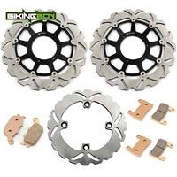 BIKINGBOY Front Rear Brake Discs Rotors Disks + Pads RVT 1000 R 00 01 02 03 04 05 06 VTR 1000 SP 1 2000 2001 SP 2 2002 2006 RC51