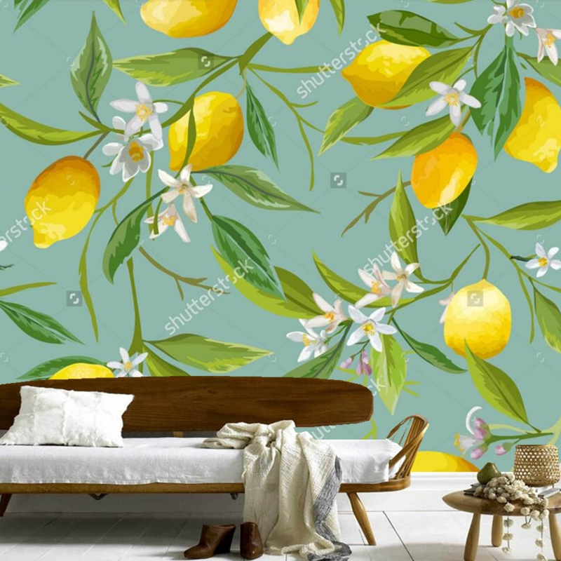 Fruit wallpaper,Seamless Floral Pattern,3D modern murals for the living room store kitchen background wall silk cloth managing the store