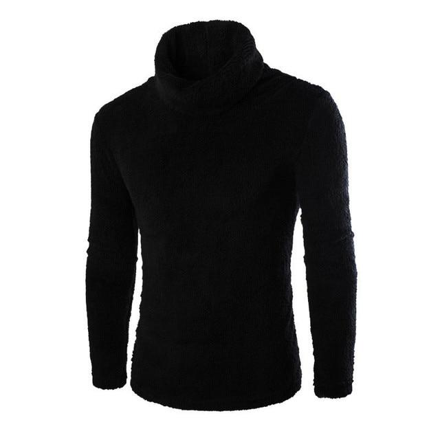 Новинка 2017 года Для Мужчин's осень-зима теплый флис Свитеры для женщин модная однотонная водолазка с длинными рукавами пуловер топ дна Блузка Плюс Размеры