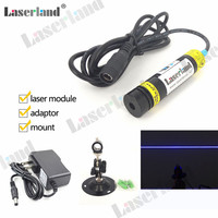 16*68mm 445nm 450nm 80mW Line Generator Laser Module Focusable Glass Lens Osram LD Haunted House lighting effect Laser Swamp