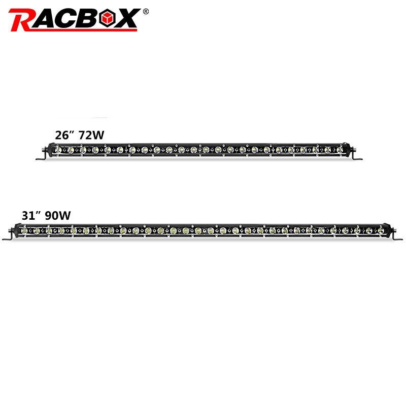 26 31inch Single Row LED Light Bar Slim 72w 90w LED Light Bar Spot Flood Beam For ATV MPV SUV 4WD GAZ UAZ 4X4 Boat Automobile датчик delphi 2808 6011 mpv suv