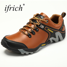 Hot Sell Mens Hiking Shoes Outdoor Sports Boots Leather Mountain Sneakers Autumn Winter  Comfortable Men Trekking