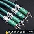 ATAUDIO Hifi RCA кабель высокого качества 7N OCC двойной RCA штекер Двойной RCA мужской аудио кабель