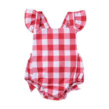 2018 Summer Newborn Body Bodysuit Plaid Baby Girl Clothes Sleeveless Girls