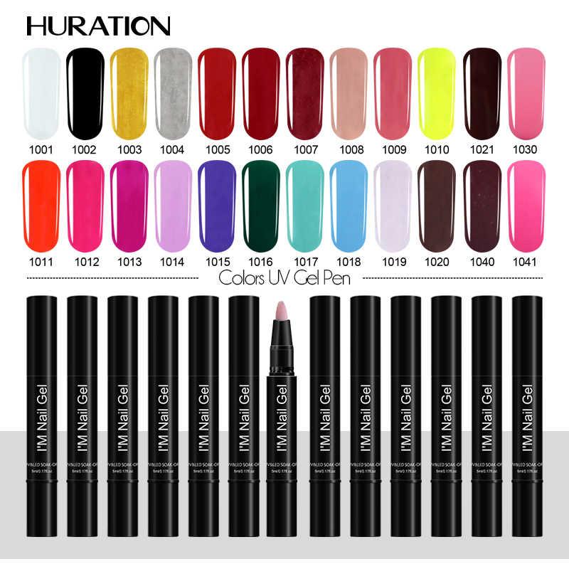 Huration מניקור מסמר צבע ג 'ל לכה מברשת משרים כבוי UV LED שריון עט סוכריות 35 צבע כבוי לבן ציפורניים ג' ל פולני ג 'ל Lacque אמנות