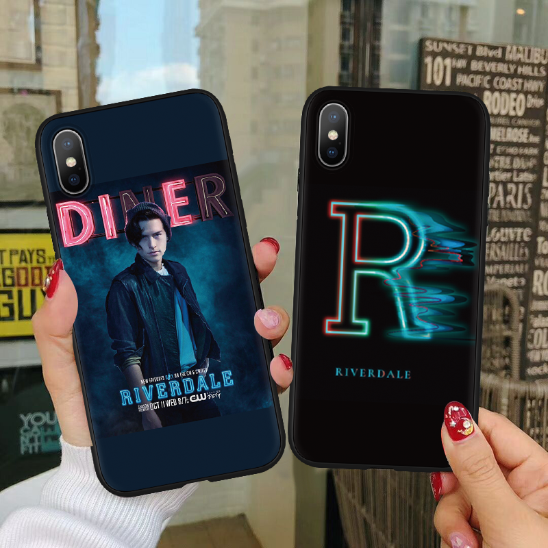 American TV Riverdale Series Soft Silicone Case For iPhone XS Max Case For TPU iPhone 5 5S SE 6 6S 7 Plus 8 Plus XS X Xr 9 Cover