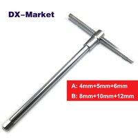 3 Size In 1 Metric Lengthening Multifunction Hex Key Wrench High Quality Chromium Vanadium Steel Hex
