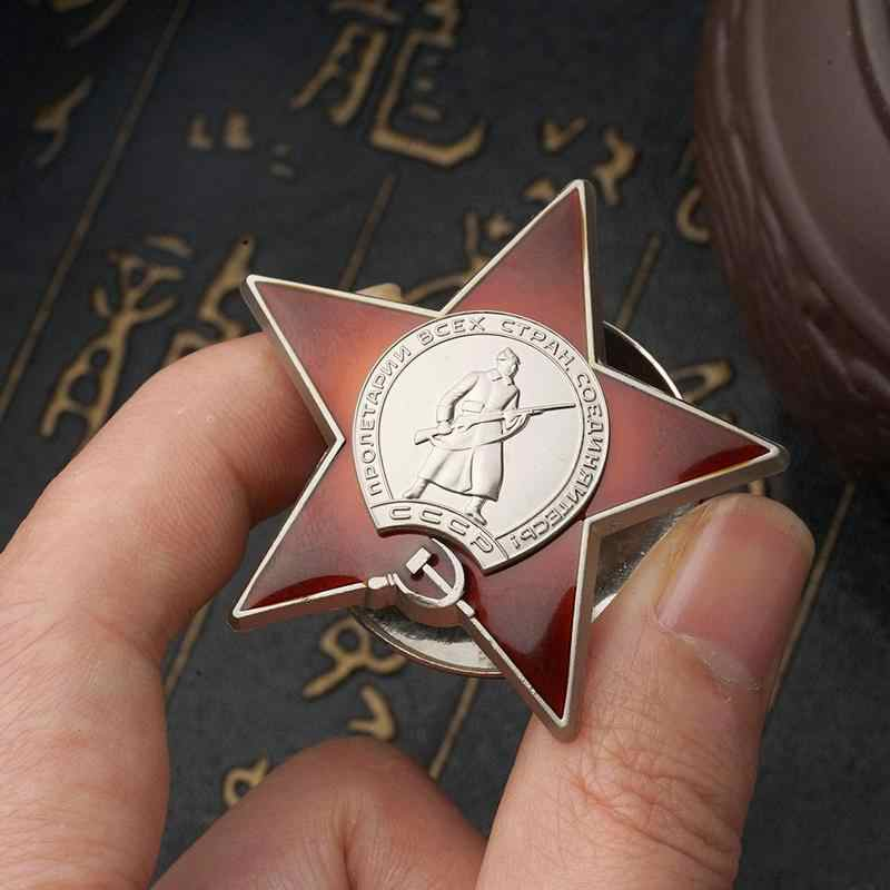Rusia Tentara Merah Uni Soviet Uni Soviet Militer Medali Lencana untuk Seragam Souvenir Medali Militer Medali Lencana untuk Drop Pengiriman