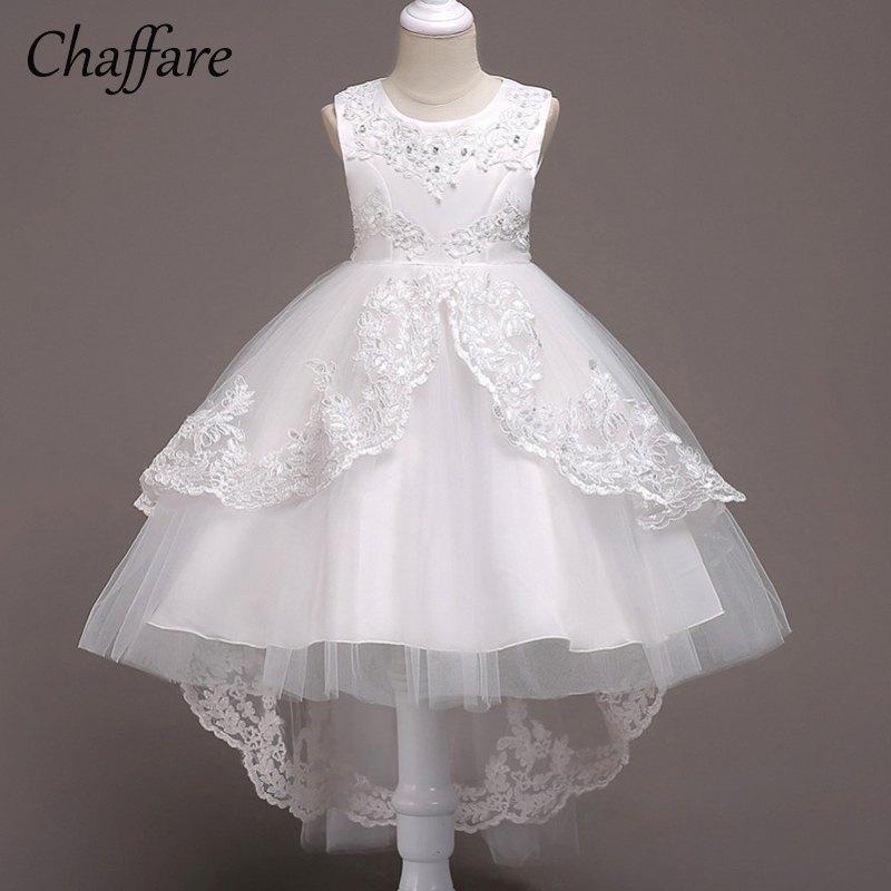 Chaffare Girls Mermaid Dress Kids Birthday Party Dresses Formal Flower Children Wedding Dress Elegant Fancy Frocks for Teenage