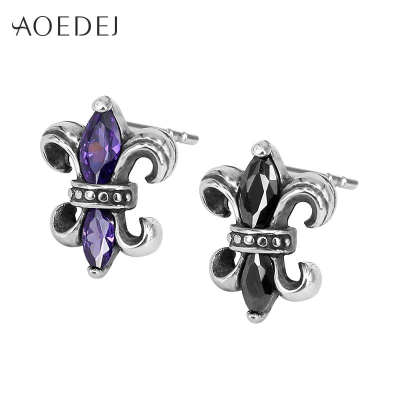 AOEDEJ Cross Men Earrings Black Studs Ear Black Crystal Earrings For Men Womens Rhinestone Small Earings Fashion Jewelry