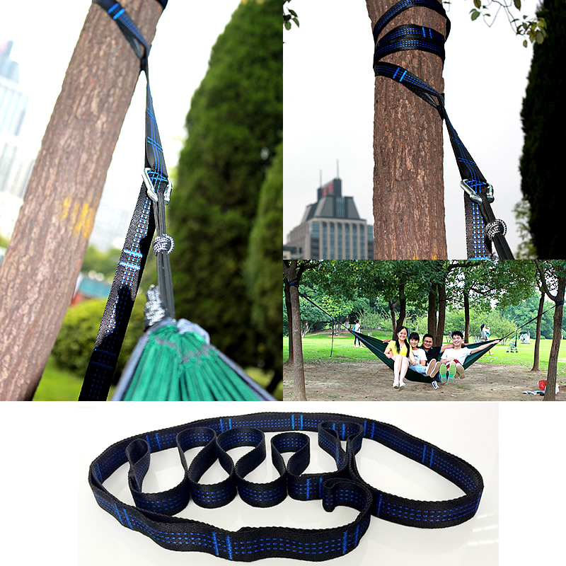 High Quality Hammock Hanging Belt Hammock Strap Tree Rope Load 2000kg 280*2.5cm Hangtight Straps