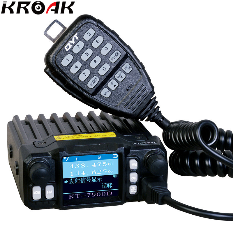 Mini Mobile Radio QYT KT-7900D Quad Display 144/220/350/440MHZ 25Watt Transceiver Large LCD Display KT7900D Walkie talkie 2pcs mini walkie talkie uhf interphone transceiver for kids use two way portable radio handled intercom free shipping