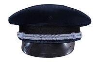 Ücretsiz kargo yeni 2014 güvenlik giyim & aksesuar güvenlik görevlisi şapka ve kapaklar erkekler askeri şapkalar erkekler polis şapka