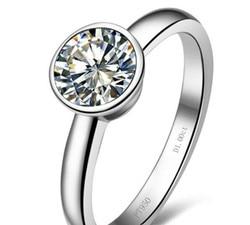 1 karat czystego złota 14 K szczęście okrągłe popularne symulacji diament kobiety ślub pierścień długi czas ostatnich jakości złota biżuteria