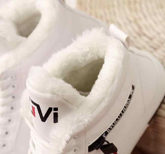 2019 Kış Çizmeler Kadın yarım çizmeler Sıcak Kış Kadın Ayakkabı Sneakers flats Lace Up Bayanlar Ayakkabı Kadın Kısa Kar Botları