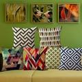 Wholesale price 1 piece Creative Geometric Brief Seat Cushion Decorative Home Decor Sofa Chair Throw Pillows Case 45*45cm