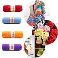 The Baby Infant Milk Cotton Knitting Yarn Coarse Wool Hand Woven Scarf Hook Needle Blanket Eco-Friendly Dyed Hand Knit