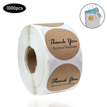1000CPS / 1 inch thank you Stickers Scrapbooking Hand Made Handmade Label Wedding Adhesive Sticker Kraft Round Labels
