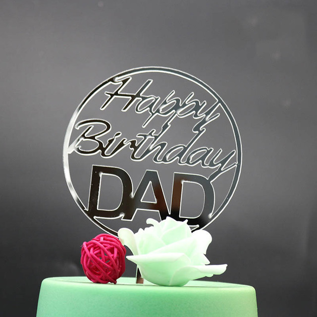Happy Birthday Dad Mom Cake Topper Anniversary Cake Toppers For
