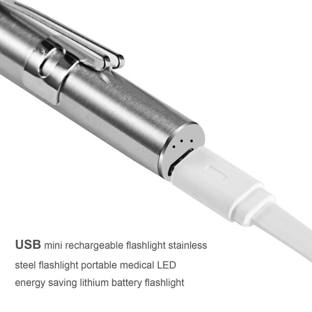 Nurse Medical Led Pen Light with Pupil Gauge Measurements for Doctor Stethoscope Healthcare Reusable Batteries Free