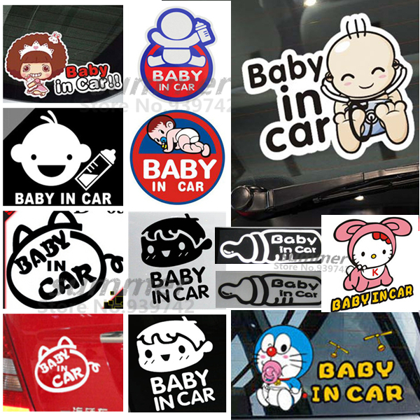 Cool baby on board baby in car inside funny car sticker decal vinyl car styling reflective car decal on rear windshield on aliexpress com alibaba group