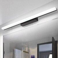Mais longo conduziu a luz do espelho AC90-260V moderno cosméticos acrílico lâmpada de parede do banheiro iluminação à prova dwaterproof água luz da parede frontal espelho