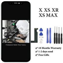 최고 품질의 OLED 디스플레이 아이폰 X Xs XsMax Xr LCD 스크린 디지타이저 터치 스크린 블랙 아이폰 X 디스플레이 + 무료 선물