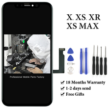 TOP Quality OLED Display For iphone X Xs XsMax Xr LCD Screen Digitizer with Touch Screen Black For iphone X Display Free Gift