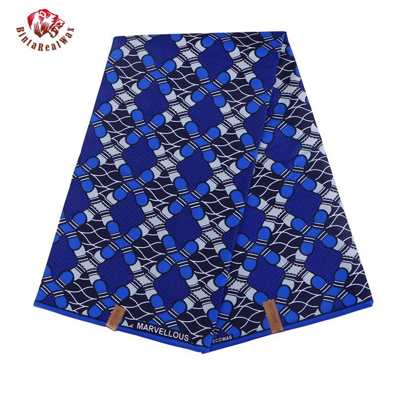 Ткань из полиэстера с восковым принтом, ткань из Анкары Binta RealWax, высокое качество, 6 цветов, африканская ткань для вечернего платья FP6022