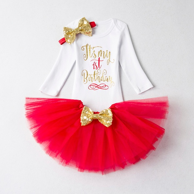 638aa191a It s My 1st Birthday Dress+Headband Outfits Infant Baby Girl 1 Year ...