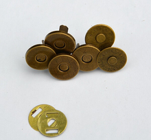 10MM Wholesale 25 Sets/lot Bronze Metal Gasket Magnet Clasp For Sewing /Scrapbook /Bag Button Fastener Wallet Bags