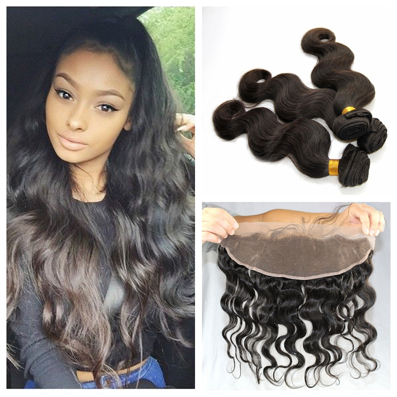 Ear To Ear Lace Frontal Closure With 3 Bundles Body Wave