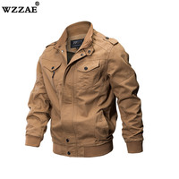 2018 New Military Jacket Men Winter Cotton Jacket Coat Army Men's Pilot Jackets Air Force Spring Cargo Jaqueta Men 6XL Jacket