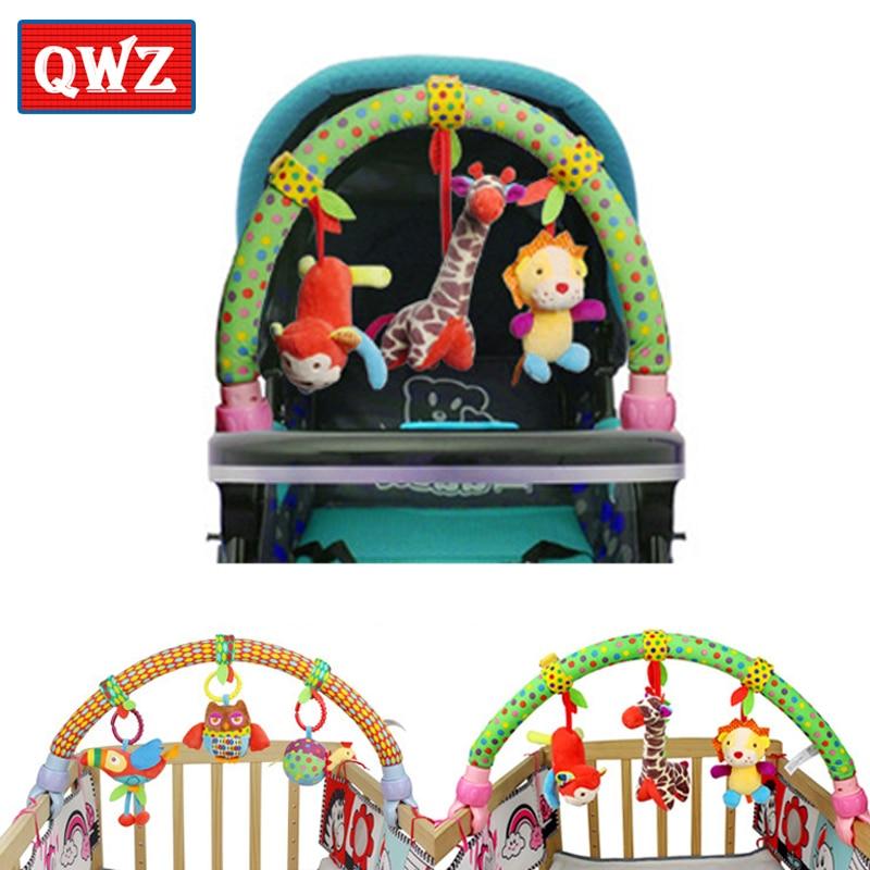 Trend Mark Qwz Baby Opknoping Vogel Bos Dieren Bunny Olifant Muziek Speelgoed Bed & Wandelwagen Speelgoed Baby Rammelaar Voor Baby Verjaardag Kerst Geschenken Matching In Kleur