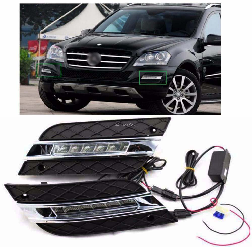 LED Daytime Driving Running Fog light Lamp for Mercedes Benz W164 ML350 ML280 ML300 ML320 ML500 2009-2011  DRL door mirror turn signal light for mercedes benz w163 ml270 ml230 ml320 ml400 ml350 ml500 ml430 ml55