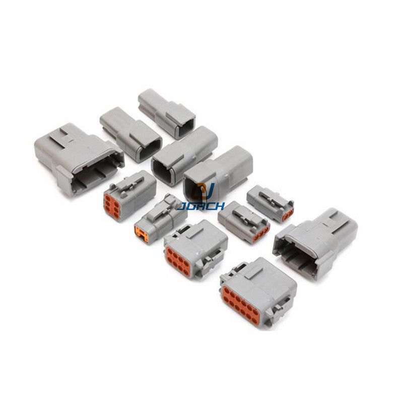1 Sets Deutsch DTM Series 2-12P Male Female Auto Waterproof Connector With Terminals Automotive Sealed Plug hd34 series hd34 18 14pn hd34 18 14pe hd34 24 19pn deutsch car waterproof connector terminals plugs
