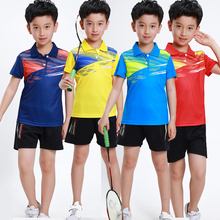 Girls Badminton TShirt Kids Shirts Table Tennis Jersey Breathable Quick Dry Tennis T-shirt BOYS sportswear Suit tracksuit 3870B