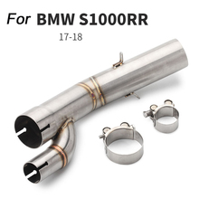 2017 2018 Motorcycle 51mm Stainless Steel Exhaust System Silp on for BMW S1000RR Middle Link Pipe mtclub 2018 s1000rr s 1000 rr motorcycle muffler exhaust full system link pipe for bmw s1000rr 2018 slip on 304 stainless steel