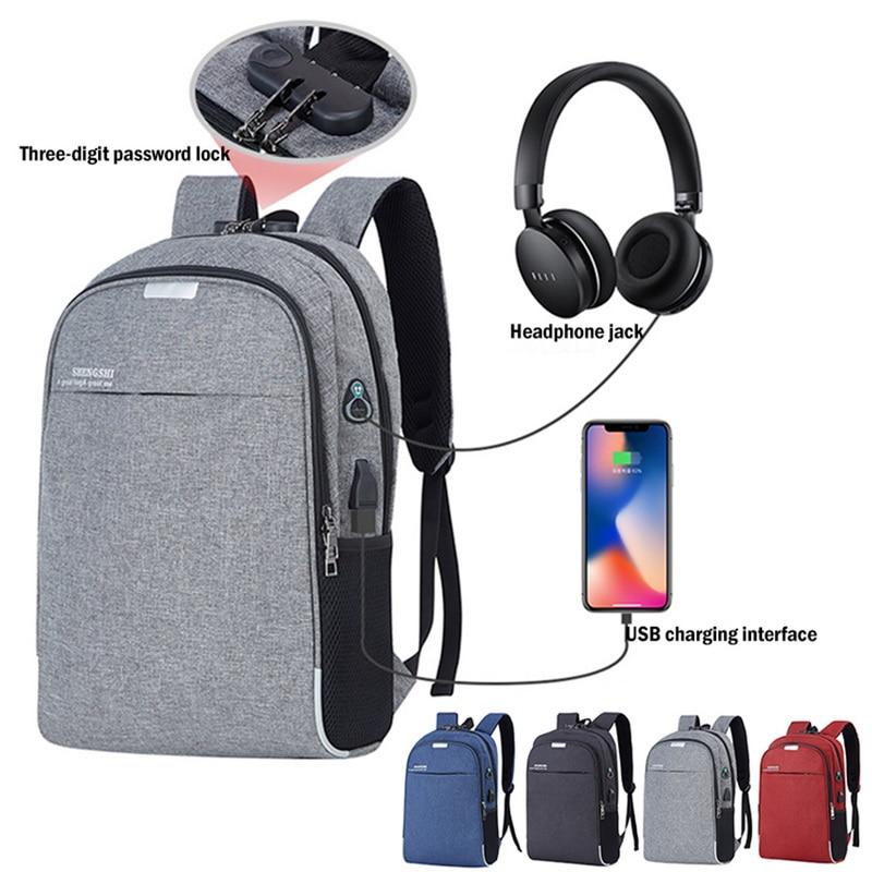 LOOZYKIT Backpack Bookbag Mochila-School Usb-Charging Travel Male Vacancy