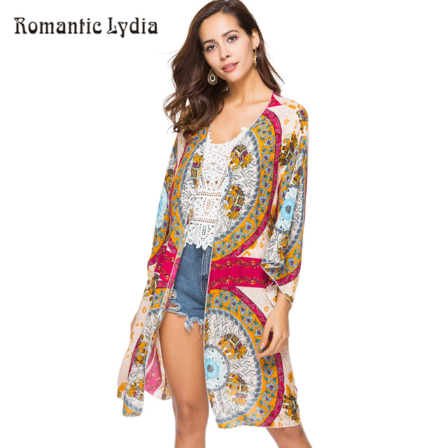 9c4e901fd6 Summer Boho Kimono Cardigan Sundress Print Women Tunic Beach Cover Up  Moroccan Kaftan Robe Femme One Piece Swimsuit Vestidos