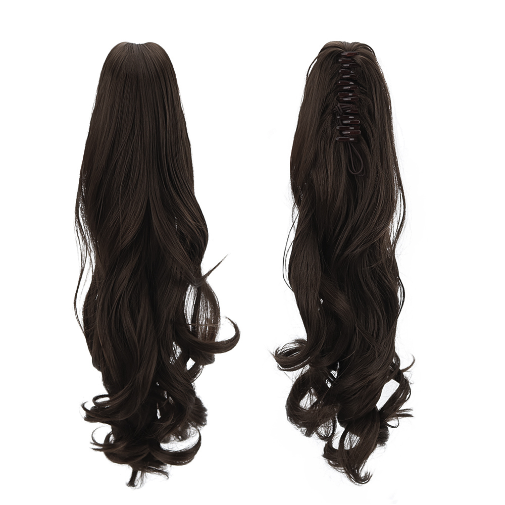 "Latest Collection Of 18"" Synthetic Hair Pieces Ponytail Wigs Claw Clip In Ponytail Extensions Long Curly Ponytail Human Hair Extensions Heat Resistan Regular Tea Drinking Improves Your Health"
