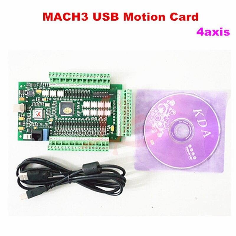 Mach 3 USB motion карты управления 4 Ось Breakout совета для ЧПУ