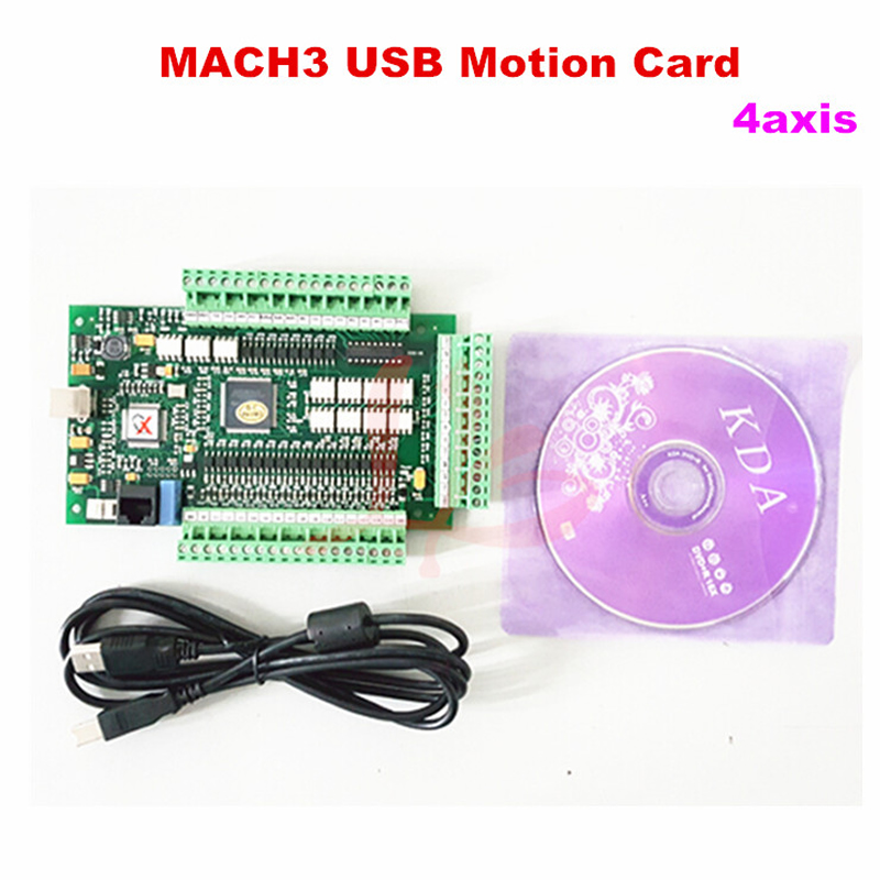 Mach 3 USB motion control card 4 Axis Breakout Board for cnc machine mini cnc engraving machine for sale 6090 mach 3 control system