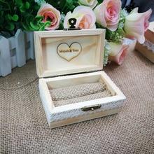 Custom Rustic Wedding Ring Box,Personalized Wedding