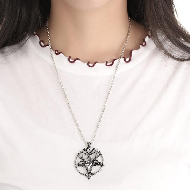 Pentagram God Skull Necklace 3