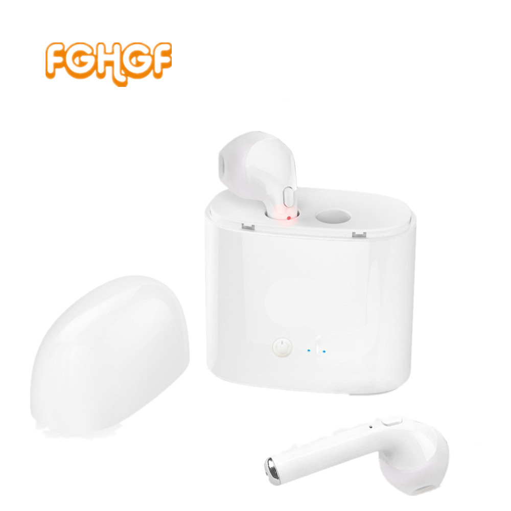 Mini TWS I7S Earbuds Wireless Bluetooth Double Earphone Twins Earpieces Stereo Music Headset For Apple iPhone se 6 7 8 X Plus edal tws headset true wireless bluetooth double twins earbuds earphone for iphone 7 earphones
