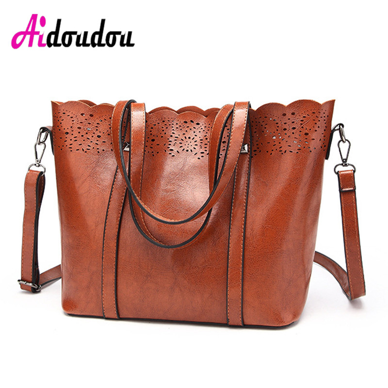New Women Handbags Hollow Out Ombre Floral Print Shoulder Crossbody Bags Ladies Pu Leather Totes Vintage Messenger Bag M2301WM pu leather front zip floral shoulder bag