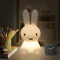 H28CM USB LED Rabbit Night Light Baby Animal Bedroom Bedside Table Desk Lamp Home Decoration Kids Birthday Gifts NightLight