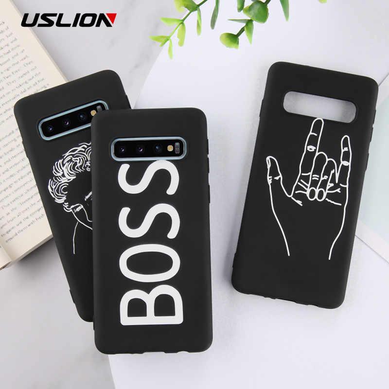 USLION Samsung Galaxy Not Için 8 9 telefon kılıfı Çift Yumuşak Kapak Için Samsung A8 A6 Artı J8 J7 J5 2018 a520 A720 TPU silikon kılıf