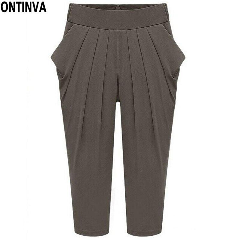 d15f0a7635dc Ladies Pants Plus Size 4XL 5XL Harem Pants Women Elastic Waist Trousers for  Girls Eleagnt Casually Black 2018 New Fashion Summer